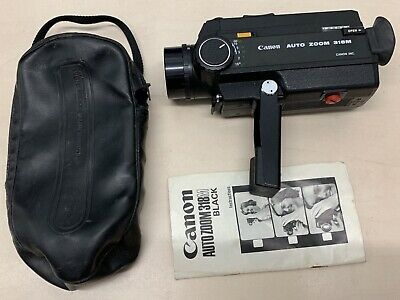 Canon Auto Zoom 318M  Super 8 Cine Film Camera with hand pouch