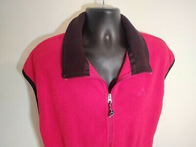 Eastern Mountain Sports EMS Vtg Mens XL Red Fleece Vest - made in the USA