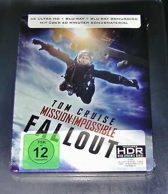 Mission Impossible 6 Fallout 4K Ultra HD Blu Ray  Steelbook New