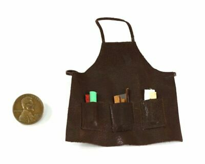 MINIATURE DOLLHOUSE 1:12 SCALE ARTISAN PRESTIGE LEATHER WORK APRON #4 PL6
