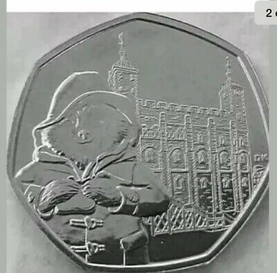 2019 Paddington Bear at the Tower 50p Fifty Pence Coin in Uncirculated Condition