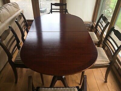 Beautiful Antique Dining Room Table And 6 Chairs