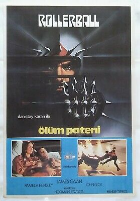 Rollerball 1975 James Caan John Houseman Sci-Fi Vintage Movie Poster