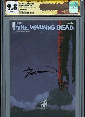 Walking Dead #193 Sdcc Variant The End Cgc 9.8 Ss Signed By Robert Kirkman