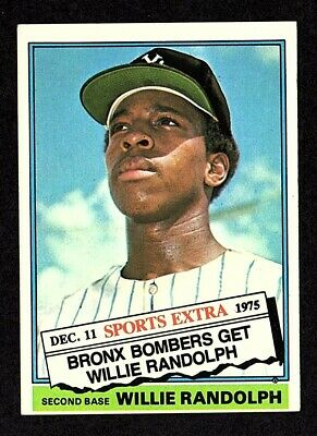 1976 Topps Traded #592T Willie Randolph New York Yankees Baseball ROOKIE Card EX