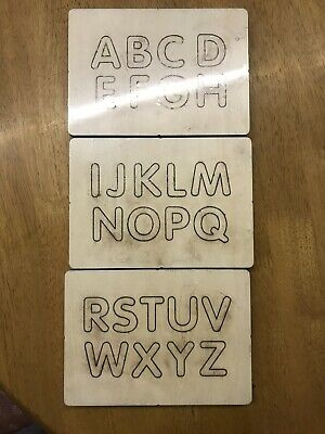 "Sizzix Compatibles Alphabet Set Wooden Personalised 1.25""  Capitals Die Cutter"