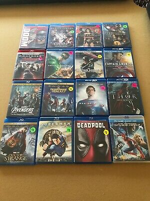 Blu-Ray Lot Marvels Justice League For Spiderman Batman  Movies 16