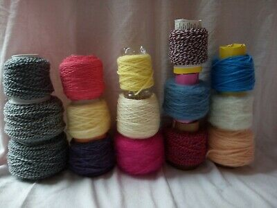550 grams  Wool. Job Lot  Mixed . 15 small cones. DK.4 ply. Chunky. 1 ply