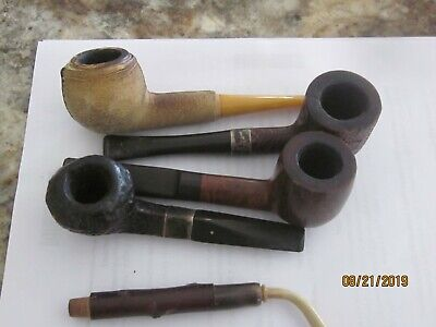 VINTAGE LOT OF THREE (3) Diff  Smoking Pipes! MUST SEE