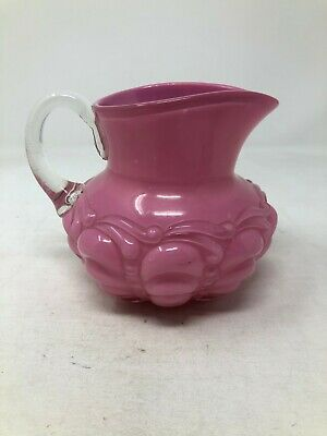 EAPG Consolidated Guttate Pink Cased Creamer 4 1/4""