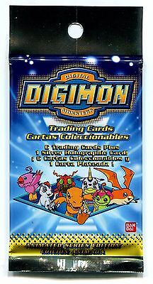 HTF 2000 Digimon Animated Series 1 Booster Box 24 Silver Holograms