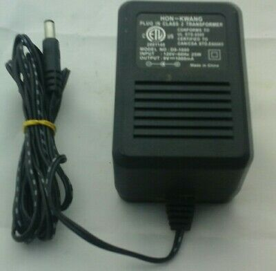 Hon Kwang Plug In Class 2 Transformer Power Supply AC Adapter 9V 1000mA D9-1000