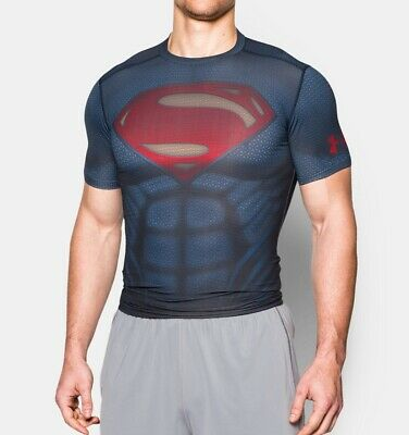 Under Armour SUPERMAN MAN OF STEEL Alter Ego Compression T-Shirt L 3XL NWT NEW