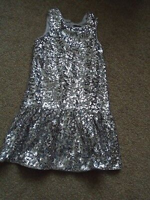 M&S Marks & Spencer Autograph silver sequin dress 9-10