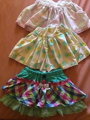 Girls Lot Size 3 Skirt, Shorts X 3