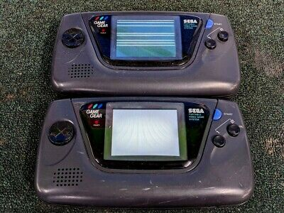 Lot of 2 Sega GameGear Systems - For Parts, Non-working!