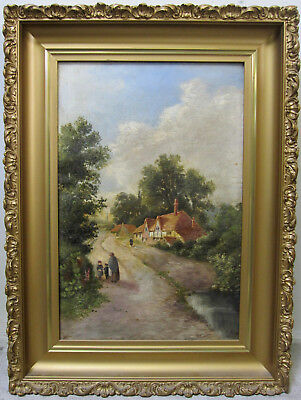 Windsor and Newton Rathbone Place Antique 19th Century Signed UK Town Landscape