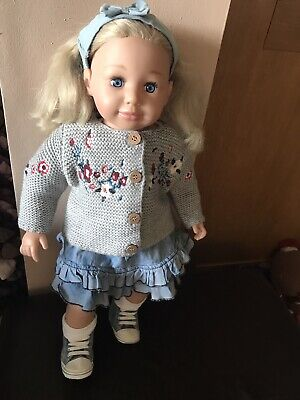 """Zapf Sally Toddler Doll 24"""" See Photo Of Hair  Fab  Condition Like Molly Doll"""