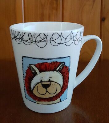THOMSON Pottery Coffee Tea Mug Cartoon Lion Near New Condition 10cm High