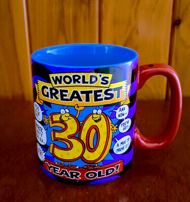 World's Greatest 30 Year Old Award Mug 2005 The Xpressions Gift Co Near New
