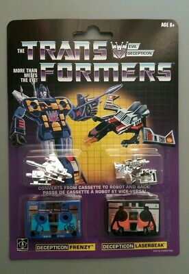 G1 Frenzy And Laserbeak Wal-Mart Reissue Figures New
