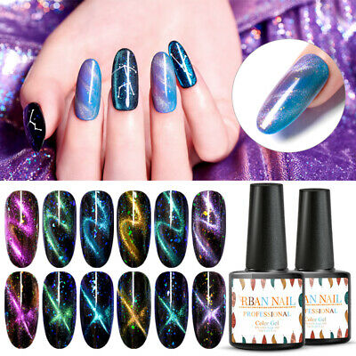 RBAN NAIL UV Gel Nail Polish Chameleon Holographic Cat Eye Sequins Gel Varnish