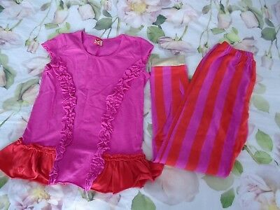 No Added Sugar Ketchup Shocking Pink Rocky Road Top 9-10 Pin Peg Leggings 7-8