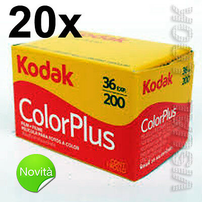 20 Pieces Film Roll Kodak Colour plus 36 Photo 200 Iso 35 mm Exp 2021