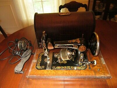 Antique Vintage Western Portable Electric Sewing Machine