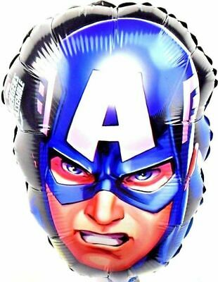 """18/""""Round Marvel CAPTAIN AMERICA EMOJI Licensed Foil Helium Fill BALLOON Party"""