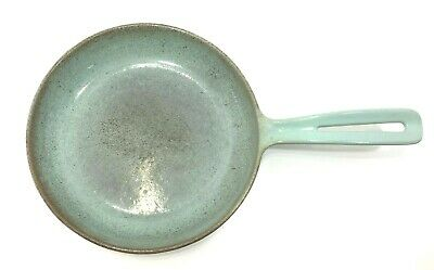 VTG Prizer-Ware Blue Cast Iron Enamelware Cookware Round 8.75 Frying Pan Skillet