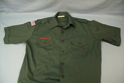 BSA Early Style Venturing Scout Green Uniform Shirt  Men's Large NO PATCHES
