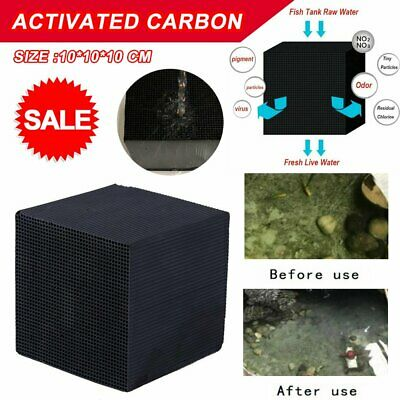 10cm Eco-Aquarium Water Purifier Filter Cube Fish Tank Cleaning Activated #T