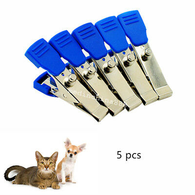 5pcs Veterinary EKG/ECG Alligator Electrode Clip Universal Connection Snap Care