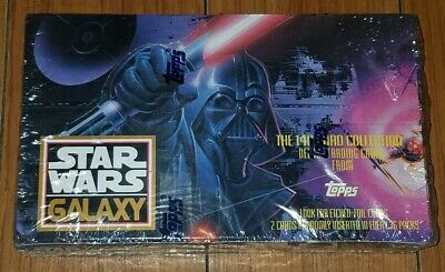 Star Wars Galaxy Series 1 Trading Cards Factory Sealed Box 36 Packs Topps 1993