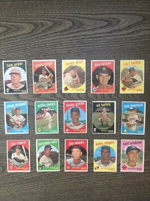 1959 Topps Baseball Lot-Finish Your Set-You Pick 6 Cards Mostly Ex Condition