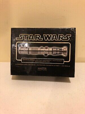 Master Replicas Star Wars Darth Maul Battle Damage Lightsaber Scaled .45 Diecast