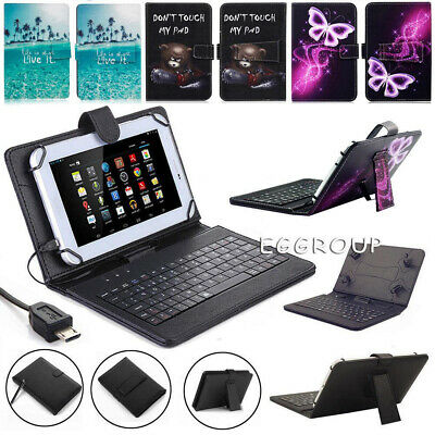 For Amazon Fire HD 8 8th Generation 2018 Release USB Keyboard Leather Case Cover