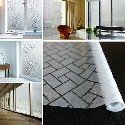 92cm x1m Home Office Privacy Frosted Frosting Removable Glass Window Film s020