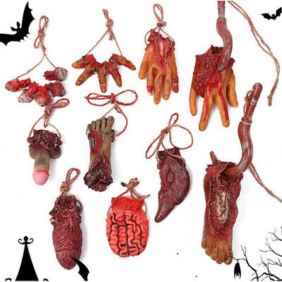 Halloween Props Hand Terror Bloody Fake Body Parts Severed horror Arm Hand Toy*1