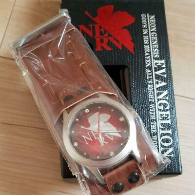 Neon Genesis EVANGELION EVA Analog Wrist Watch NERV Brown Anime Manga Japan F/S