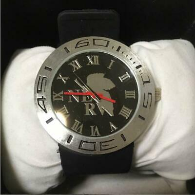 Neon Genesis EVANGELION Analog Wrist Watch NERV Black Silver Anime Manga Japan