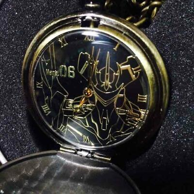 Neon Genesis Evangelion Unit 6 Pocket Watch Black Antique Gold Sega Anime Manga