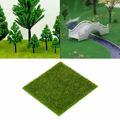 4x Artificial Grass Mat Plant Greengrocers Fake Turf Lawn Ornament DIY Craft Toy