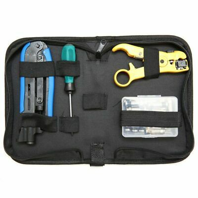 Coax Cable Crimper Kit, Compression Tool Coax Cable Crimper Kit, Adjustable A9V1