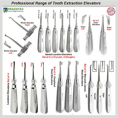 Surgical Dental Root Elevators Tooth Extraction Luxation Instruments Medentra®