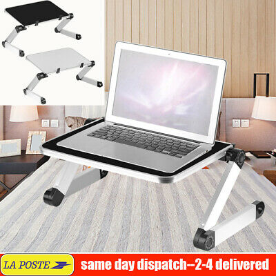 Table de lit ordinateur portable table bureau PC iPad support réglable pliable