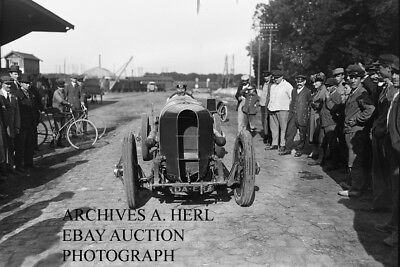 Sunbeam factory racer Rene Thomas 1920 French Grand Prix Gaillon photograph race