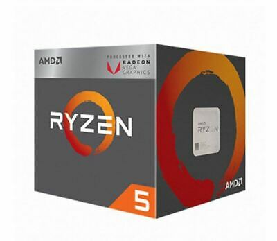AMD Ryzen 5 2400G Quad-Core 8Thread 3.6GHz 14nm Radeon Vega 11 CPU Processor