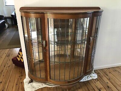 Lead light Art Deco Display Cabinet